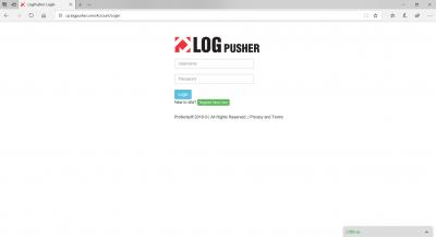 Logpusher Login Page
